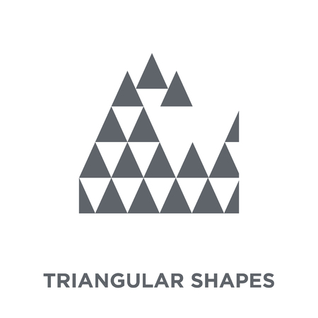 Triangular shapes forming waves icon. Triangular shapes forming waves design concept from Geometry collection. Simple element vector illustration on white background. 向量圖像