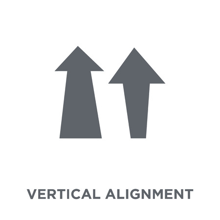 Vertical alignment icon. Vertical alignment design concept from Geometry collection. Simple element vector illustration on white background.