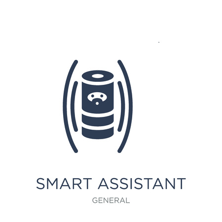 smart assistant icon. Trendy flat vector smart assistant icon on white background from General collection, vector illustration can be use for web and mobile, eps10 Çizim