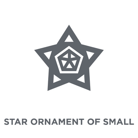 Star ornament of small triangles icon. Star ornament of small triangles design concept from Geometry collection. Simple element vector illustration on white background. Ilustração