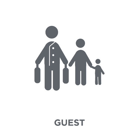 Guest icon. Guest design concept from Hotel collection. Simple element vector illustration on white background. 스톡 콘텐츠 - 111299165