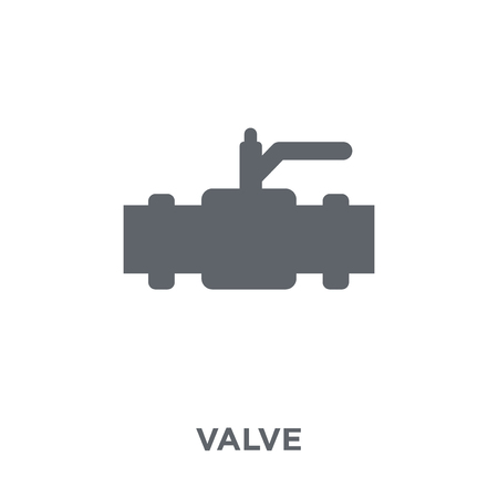 Valve icon. Valve design concept from  collection. Simple element vector illustration on white background. Illustration