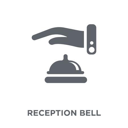 Ikona dzwonka recepcji. Koncepcja projektu dzwonka do recepcji z kolekcji Hotel. Prosty element ilustracji wektorowych na białym tle.