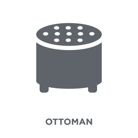 Ottoman icon. Ottoman design concept from Furniture and household collection. Simple element vector illustration on white background.