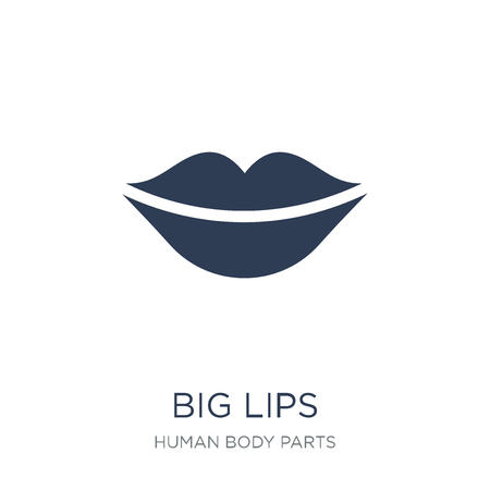 Big Lips icon. Trendy flat vector Big Lips icon on white background from Human Body Parts collection, vector illustration can be use for web and mobile, eps10