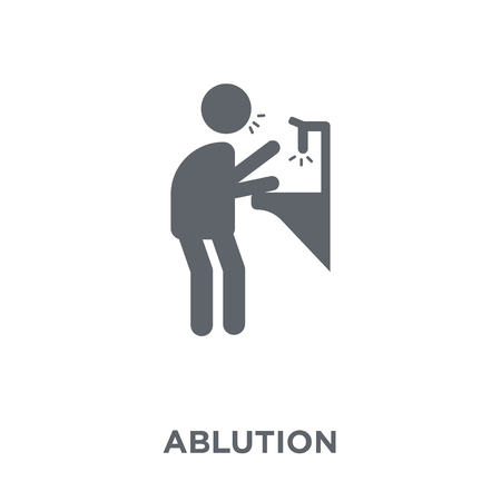 ablution icon. ablution design concept from Hygiene collection. Simple element vector illustration on white background. Reklamní fotografie - 112230139