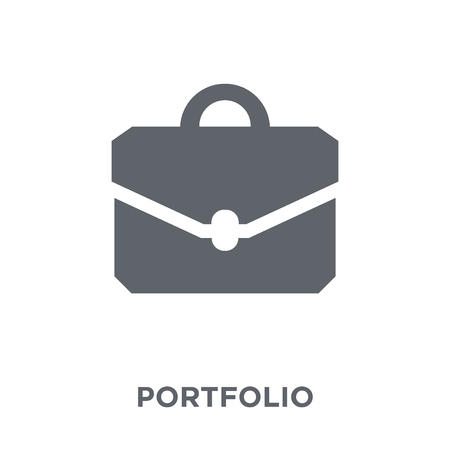 Portfolio icon. Portfolio design concept from Human resources collection. Simple element vector illustration on white background. Illustration