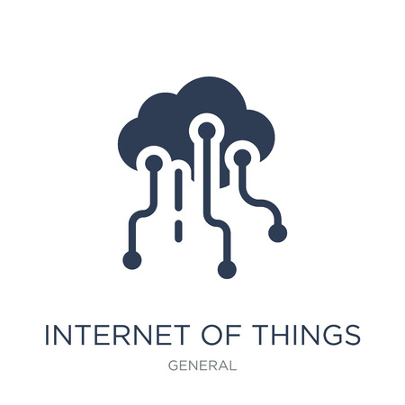 internet of things icon. Trendy flat vector internet of things icon on white background from General collection, vector illustration can be use for web and mobile, eps10