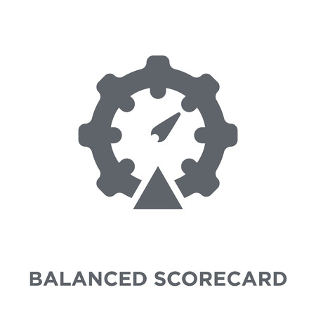 Balanced scorecard icon. Balanced scorecard design concept from Time managemnet collection. Simple element vector illustration on white background.
