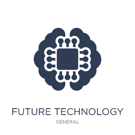 future technology icon. Trendy flat vector future technology icon on white background from general collection, vector illustration can be use for web and mobile, eps10  イラスト・ベクター素材