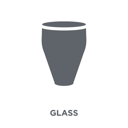 glass icon. glass design concept from  collection. Simple element vector illustration on white background. Çizim