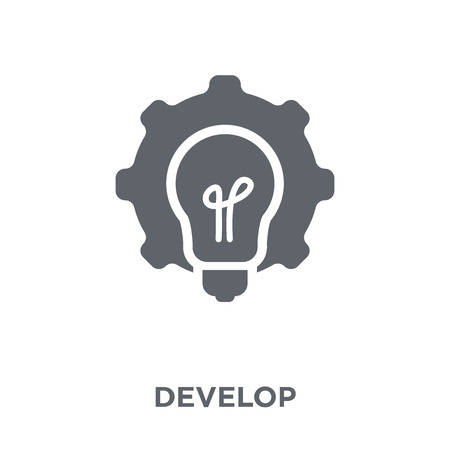 Develop icon. Develop design concept from Time managemnet collection. Simple element vector illustration on white background.
