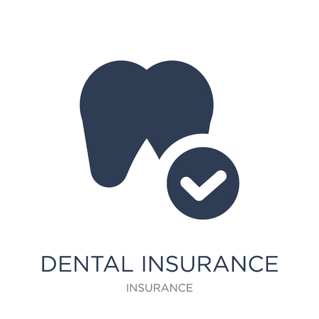 dental insurance icon. Trendy flat vector dental insurance icon on white background from Insurance collection, vector illustration can be use for web and mobile, eps10