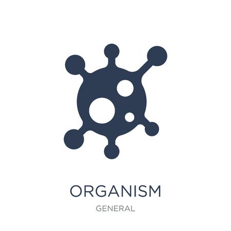 Organismus-Symbol. Trendiges flaches Vektororganismussymbol auf weißem Hintergrund aus der allgemeinen Sammlung, Vektorillustration kann für Web und Mobile verwendet werden, eps10 Vektorgrafik