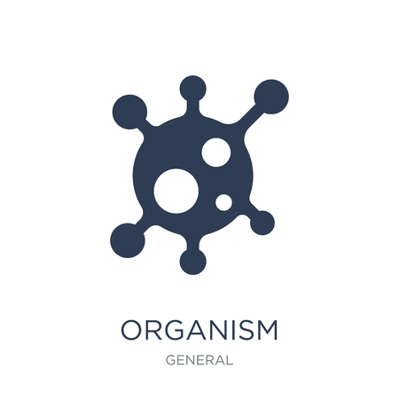 organism icon. Trendy flat vector organism icon on white background from General collection, vector illustration can be use for web and mobile, eps10