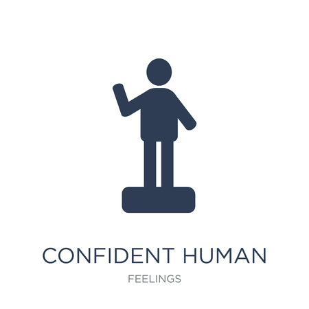 confident human icon. Trendy flat vector confident human icon on white background from Feelings collection, vector illustration can be use for web and mobile, eps10