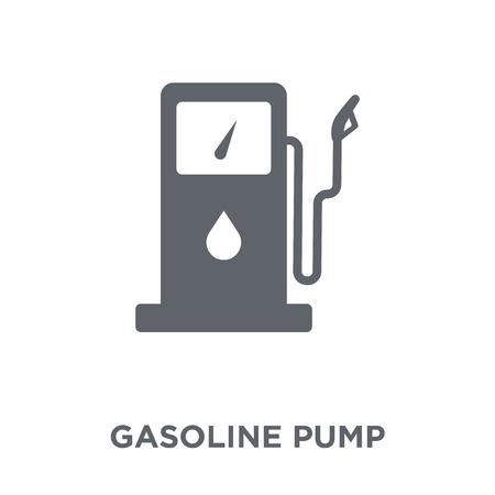 가솔린 펌프 아이콘입니다. 인더스트리 컬렉션의 가솔린 펌프 디자인 컨셉입니다. 흰색 바탕에 간단한 요소 벡터 일러스트 레이 션. 벡터 (일러스트)