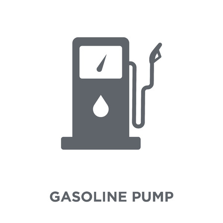 Gasoline pump icon. Gasoline pump design concept from Industry collection. Simple element vector illustration on white background.