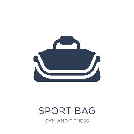 Sport bag icon. Trendy flat vector Sport bag icon on white background from Gym and fitness collection, vector illustration can be use for web and mobile, eps10 Ilustrace