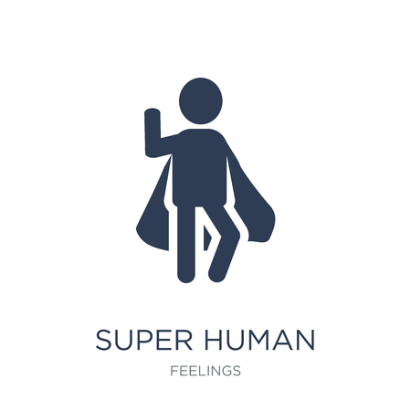 super human icon. Trendy flat vector super human icon on white background from Feelings collection, vector illustration can be use for web and mobile, eps10
