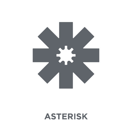 Asterisk icon. Asterisk design concept from Geometry collection. Simple element vector illustration on white background.