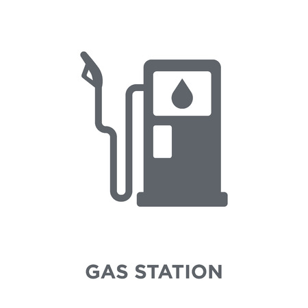 Gas station icon. Gas station design concept from  collection. Simple element vector illustration on white background.
