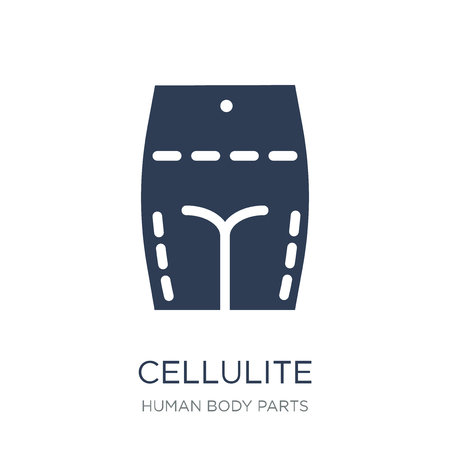 Cellulite icon. Trendy flat vector Cellulite icon on white background from Human Body Parts collection, vector illustration can be use for web and mobile, eps10 Çizim