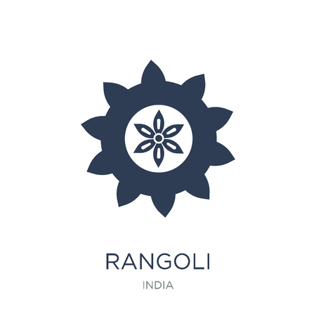 Rangoli icon. Trendy flat vector Rangoli icon on white background from india collection, vector illustration can be use for web and mobile, eps10