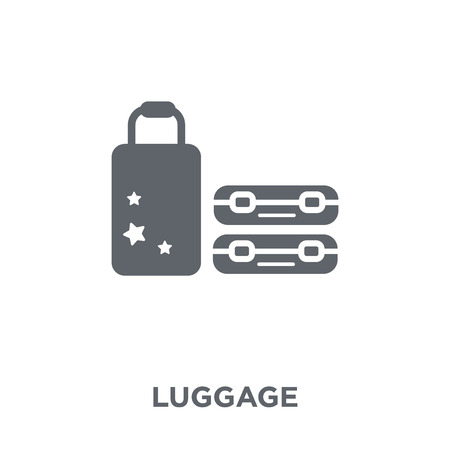 Luggage icon. Luggage design concept from Hotel collection. Simple element vector illustration on white background.