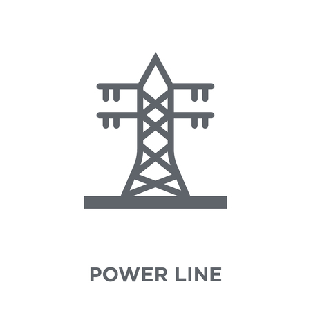Power line icon. Power line design concept from Industry collection. Simple element vector illustration on white background. Illustration