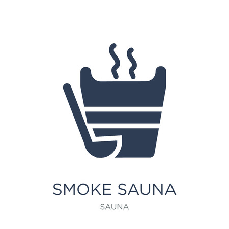 Smoke sauna icon. Trendy flat vector Smoke sauna icon on white background from sauna collection, vector illustration can be use for web and mobile, eps10