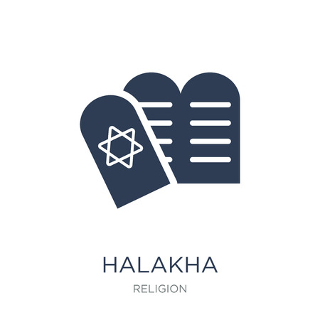 Halakha icon. Trendy flat vector Halakha icon on white background from Religion collection, vector illustration can be use for web and mobile, eps10
