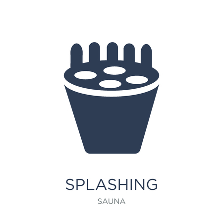 Splashing icon. Trendy flat vector Splashing icon on white background from sauna collection, vector illustration can be use for web and mobile, eps10 Иллюстрация