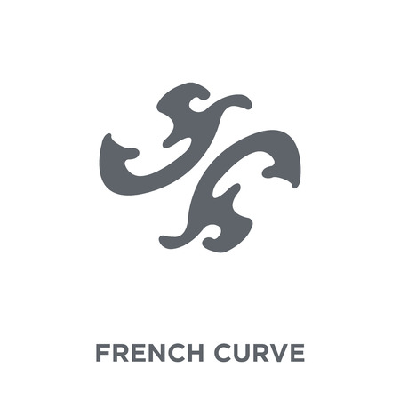 French curve icon. French curve design concept from Sew collection. Simple element vector illustration on white background. Banque d'images - 112231156