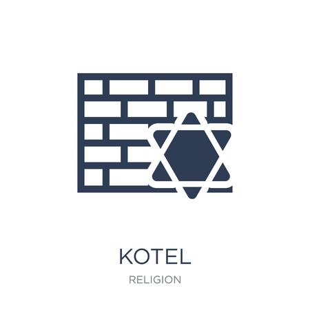 Kotel icon. Trendy flat vector Kotel icon on white background from Religion collection, vector illustration can be use for web and mobile, eps10