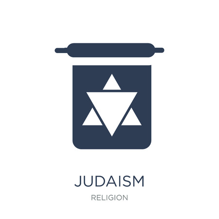 Judaism icon. Trendy flat vector Judaism icon on white background from Religion collection, vector illustration can be use for web and mobile, eps10
