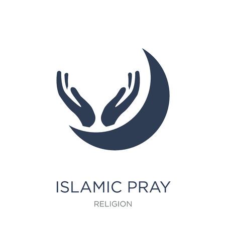 Icône de prière islamique. Icône de prière islamique vecteur plat sur fond blanc de la collection Religion, illustration vectorielle peut être utilisé pour le web et mobile, eps10 Vecteurs
