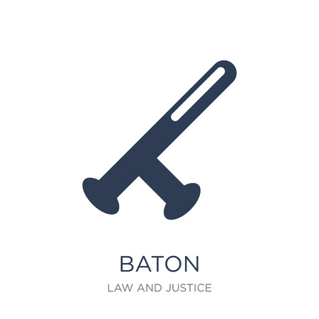 Baton icon. Trendy flat vector Baton icon on white background from law and justice collection, vector illustration can be use for web and mobile, eps10