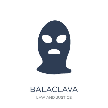 Balaclava icon. Trendy flat vector Balaclava icon on white background from law and justice collection, vector illustration can be use for web and mobile, eps10
