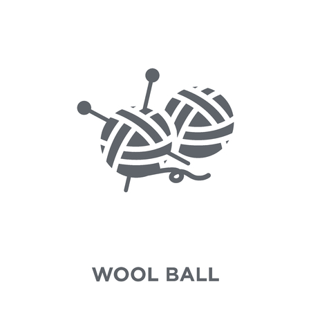 Wool ball icon. Wool ball design concept from Sew collection. Simple element vector illustration on white background.