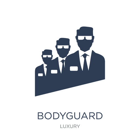 Bodyguard icon. Trendy flat vector Bodyguard icon on white background from Luxury collection, vector illustration can be use for web and mobile, eps10 Illustration