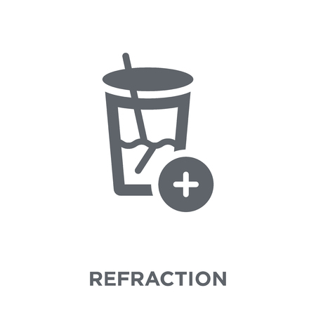 Refraction icon. Refraction design concept from Science collection. Simple element vector illustration on white background.