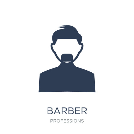Barber icon. Trendy flat vector Barber icon on white background from Professions collection, vector illustration can be use for web and mobile, eps10