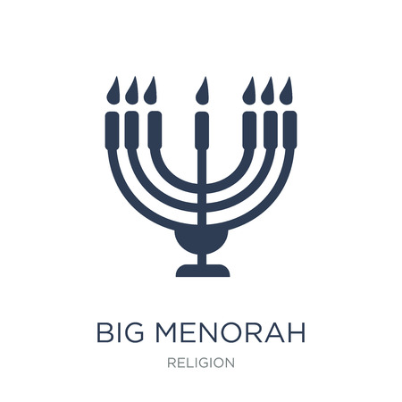 Big Menorah icon. Trendy flat vector Big Menorah icon on white background from Religion collection, vector illustration can be use for web and mobile, eps10 Stock Illustratie