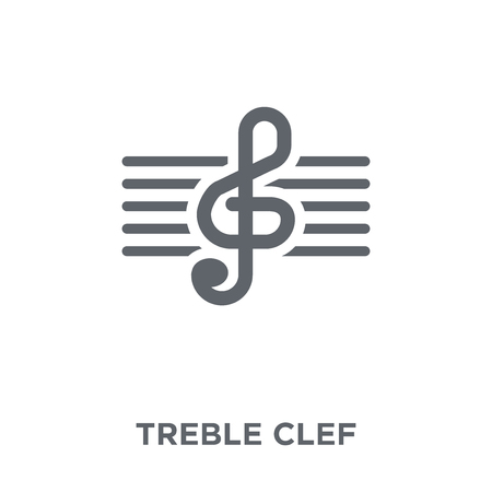 treble clef icon. treble clef design concept from  collection. Simple element vector illustration on white background. Illustration