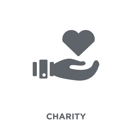 Charity icon. Charity design concept from  collection. Simple element vector illustration on white background.
