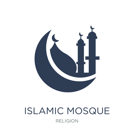 Islamic Mosque icon. Trendy flat vector Islamic Mosque icon on white background from Religion collection, vector illustration can be use for web and mobile, eps10 Illustration