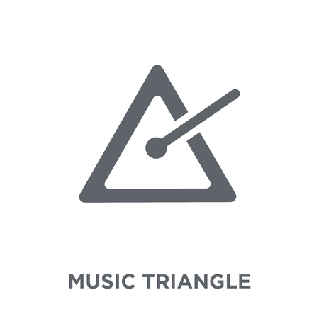 music Triangle icon. music Triangle design concept from Music collection. Simple element vector illustration on white background.