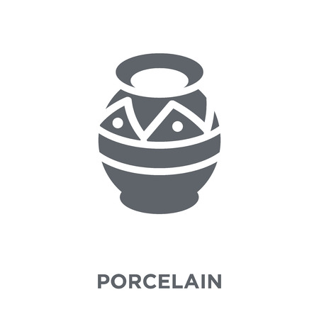Porcelain icon. Porcelain design concept from  collection. Simple element vector illustration on white background.