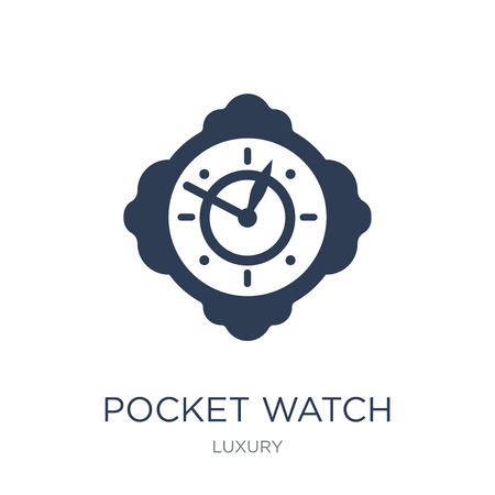 Pocket watch icon. Trendy flat vector Pocket watch icon on white background from Luxury collection, vector illustration can be use for web and mobile, eps10 向量圖像